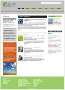 The Agri-Tech East website homepage in July 2014