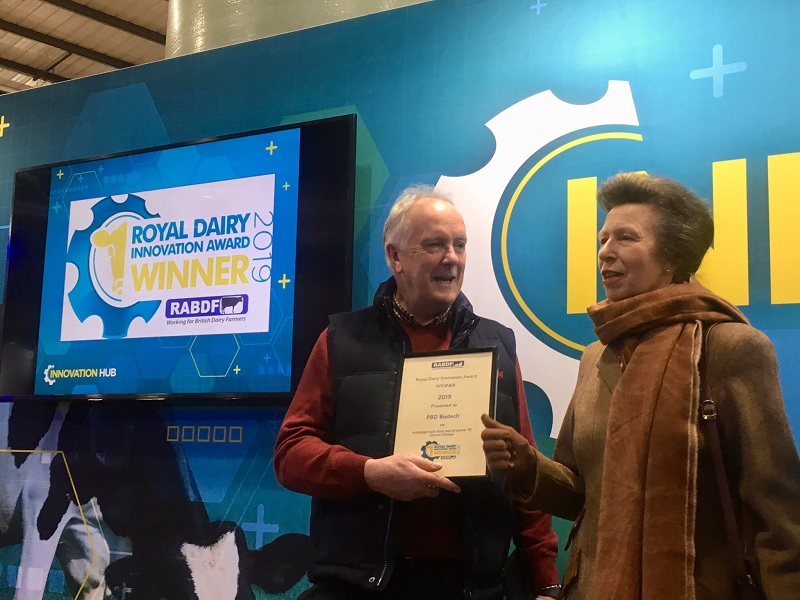 PBD Biotech win Royal Dairy Innovation Award 2019