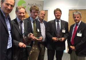 The judges and winners of Agri-Tech East