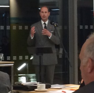 HRH Prince Edward at RNAA Conference as part of Agri-Tech Week 2014