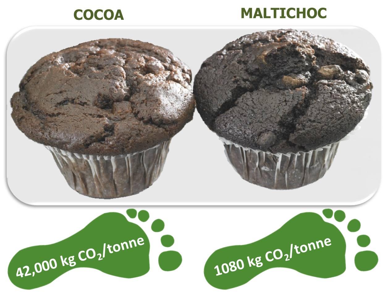 Maltichoc muffins CO2