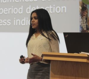 Veena Adityan, co-founder of Smartbell, presents at GROW