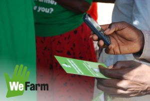 WeFarm provides an SMS text platform for small scale farmers in developing countries that don't have access to internet. Using a mobile phone they can receive peer to peer advice on their crops and livestock.
